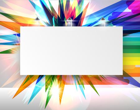 Kleurrijke billboard voor reclame Stock Illustratie