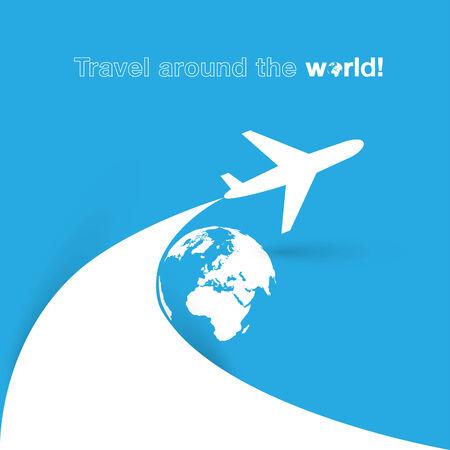 Travel around the World Plane icon