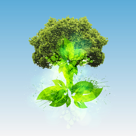 gaia: Green world concept by a tree