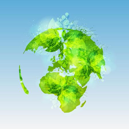 Green world concept Illustration