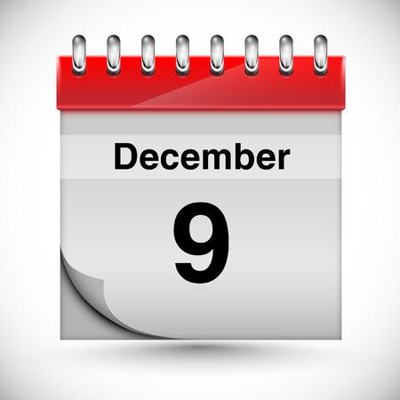 december: Calendar for december, vector