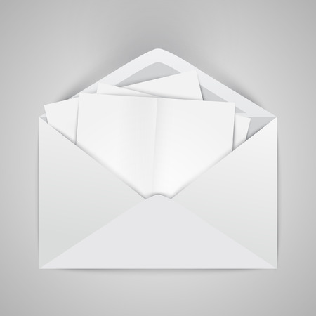 Envelopes with crumpled letters Vector