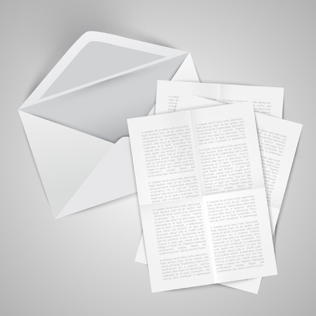 Envelopes with crumpled letters, vector Illustration