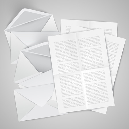 crumpled: Envelopes with crumpled letters Illustration