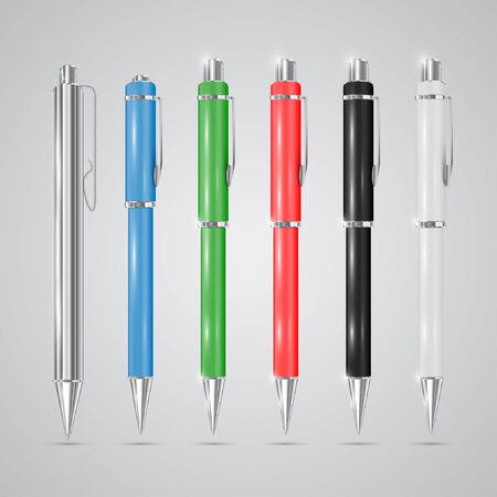 clerical: Colorful pens Illustration