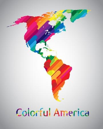 mapa del peru: Colorido América