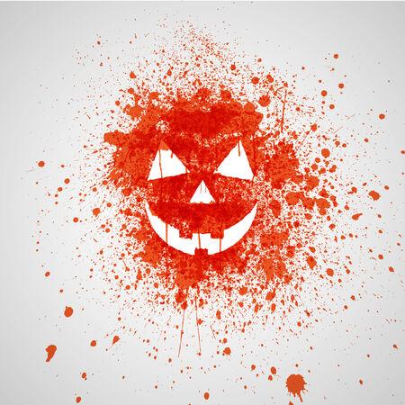 Splashed pumpkin face