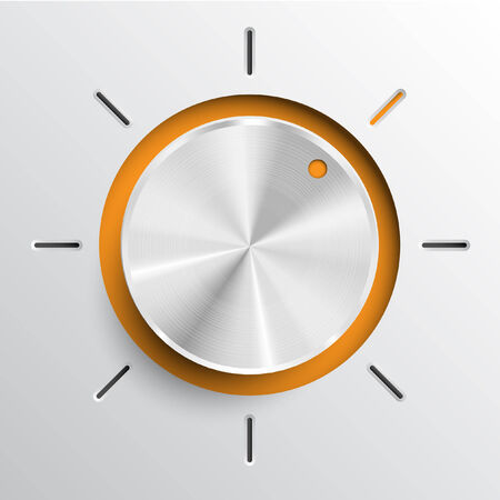 switcher: Technology music volume or switch button Illustration