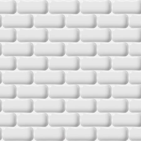 white brick: White brick wall, vector Illustration