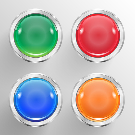 Business abstract buttons for advertising Vector
