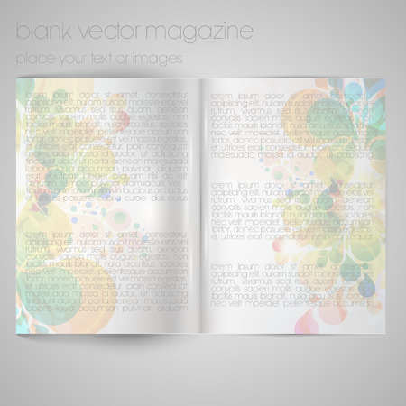 blank magazine: Blank vector magazine paper Illustration