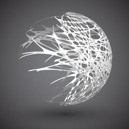 Globe met banen, vector illustratie