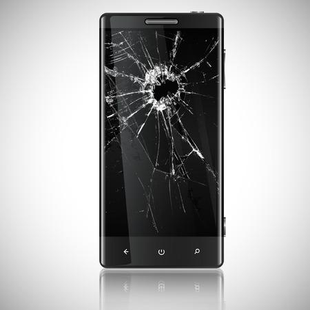 Broken mobile phone Illustration
