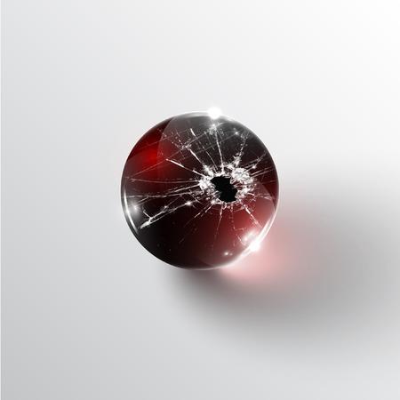 broken glass: Broken glass sphere