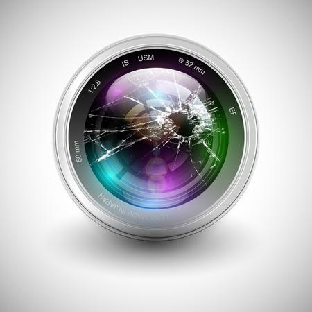 Gebroken camera icoon