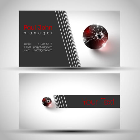 businesscard: Abstract business-card front and back