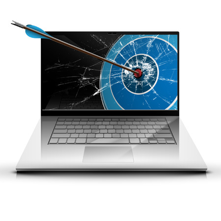ultrabook: An arrow and a laptop Illustration