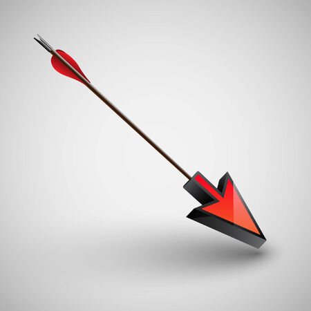 An arrow with a cursor Illustration