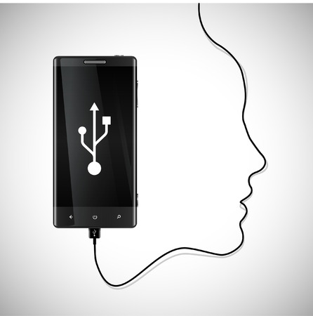 Mobile phone with charger