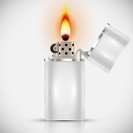White lighter Vector