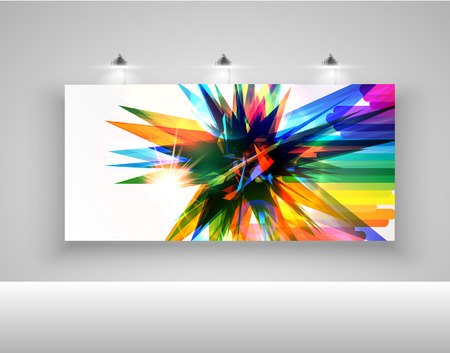 Colorful billboard for advertising