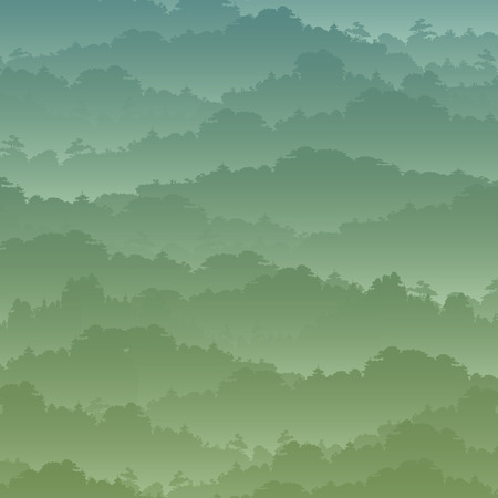 high sierra: Vector seamless background. Green Mountain landscape in the summer.