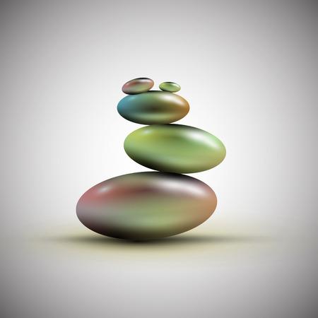 handful: Spa stones, vector
