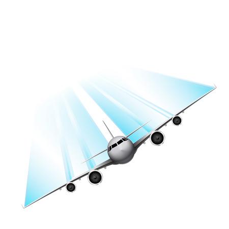 plane vector: Fast plane, vector