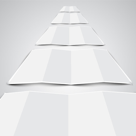 Folded papers Vector