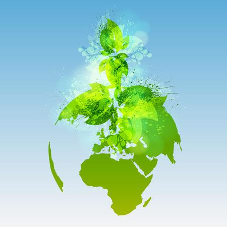 Green world, vector Illustration