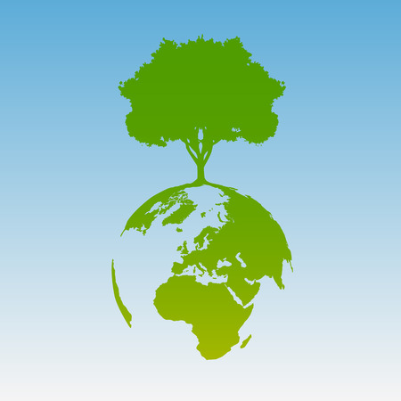 gaia: Green world, vector Illustration