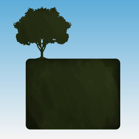gaia: Blackboard, vector Illustration