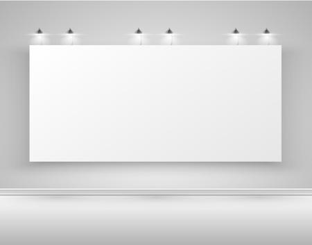 Clean billboard for advertising, vector