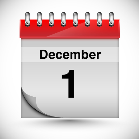 december: Calendar for December Illustration
