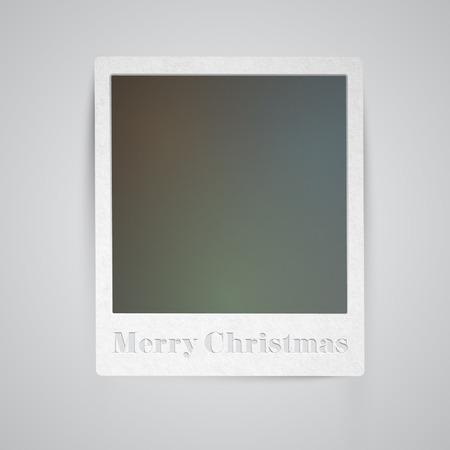 Christmas holiday photo frame Vector