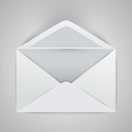 Opened envelope, vector