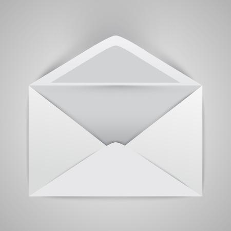 Opened envelope, vector