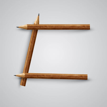 A letter made by pencil