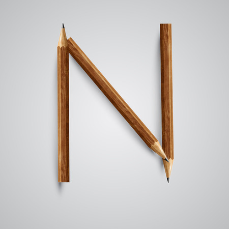 A letter made by pencil, vector Illustration