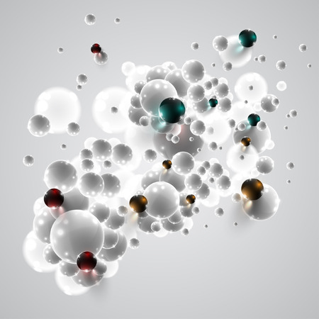 Colorful and white bubbles background, vector Vector