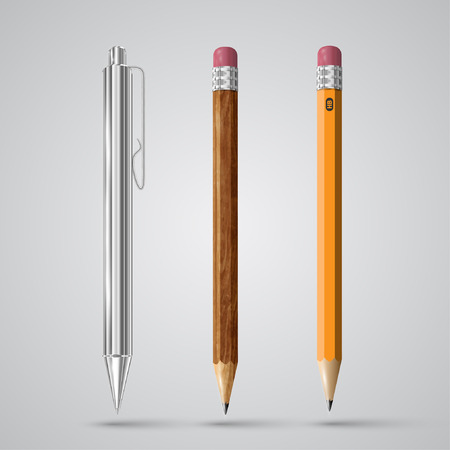 Colorful realistic pencils, vector
