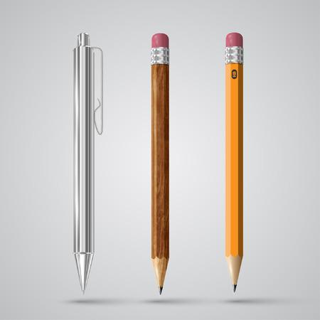 Colorful realistic pencils, vector