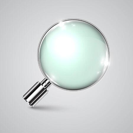 Vector realistic magnifier Vector