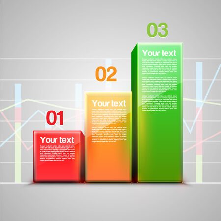 Graph numbered template Vector