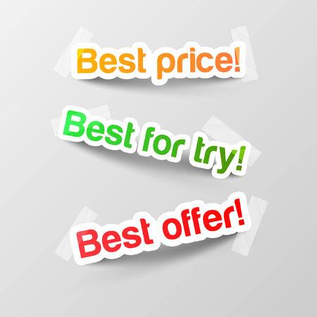 Realistic design elements stickers Vector