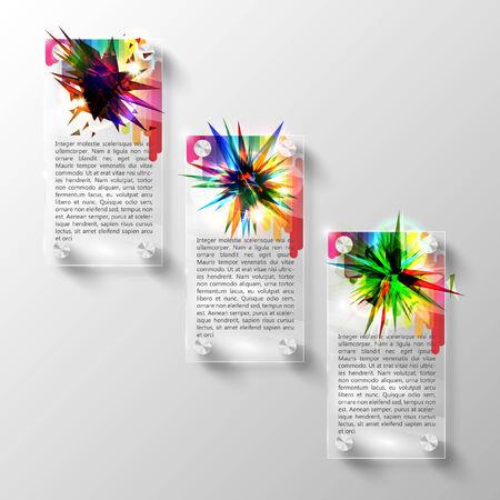 Vector abstract glass template design Vector