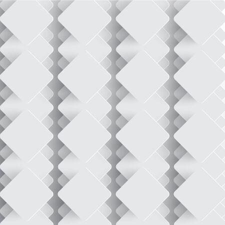 White tiles with shadows, vector Vector