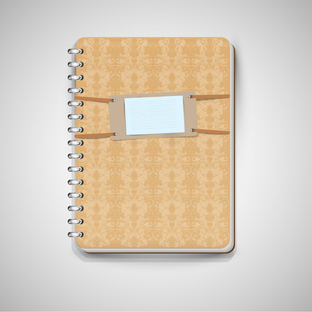 A light-brown notebook, vector Vector