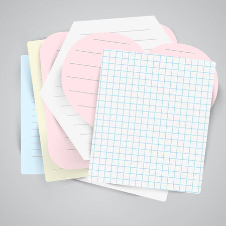Paper labels with sellotape Vector