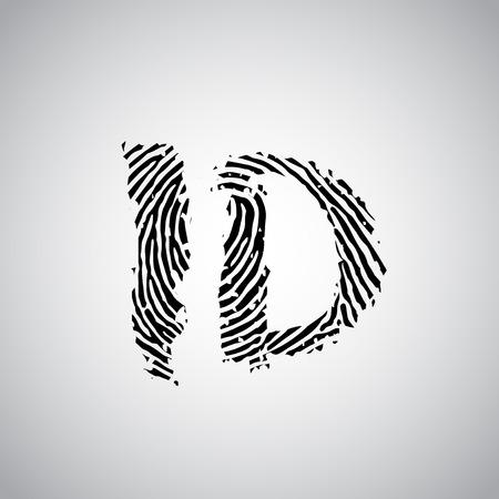 forensics: Fingerprint and ID text, vector